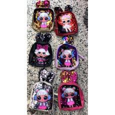 Рюкзак детский LOL с ушками и паетками