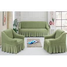 """Чохол на диван 2 крісла (Макси розмір) ТМ"""" Kayra"""".Туреччина. -оливка"""