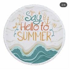 "Пляжне покривало кругле .Подстилка.Полотенца. Килимок"" hello to summer"""