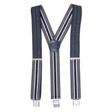 Мужские подтяжки Braces классические серый+черный  (BR1013)