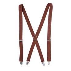 Чоловічі підтяжки Braces хрестові темно коричневий   (BR1041)