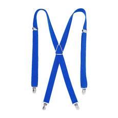 Мужские подтяжки Braces крестовые синий  (BR1028)