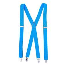Мужские подтяжки Braces крестовые голубой  (BR1037)