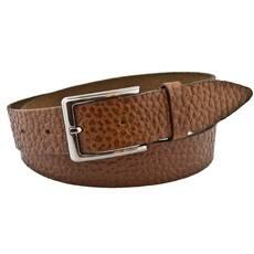 Мужской кожаный ремень VC 3.5 см для брюк коричневый 110-135 см  (VC1047)