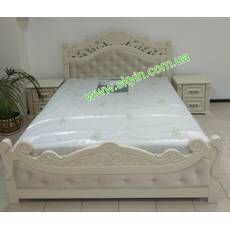 Ліжко Корона з тумбами з масиву ясеня