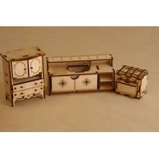 Мебель для куклы, кукольного домика.Набор-кухня