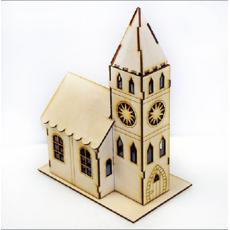 Игрушка Домик с башней из дерева
