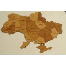 """Деревянная карта-пазл """"Украина"""""""