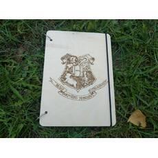 Эко блокнот с деревянной обложкой хогвардс гари поттер Hogwarts Harry Potter стильный из дерева