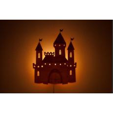 """Детский ночник из дерева резной """"Замок"""""""