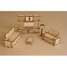 Меблі для лялькового будиночка. Набор-гостинная