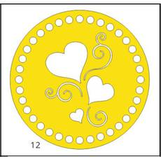Денце для в'язаних кошиків кругле різьблене 150 мм