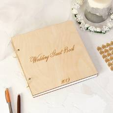 Альбом для фотографій з дерева, на весілля, на подарунок