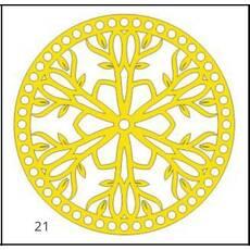 Денце для в'язаних кошиків кругле різьблене 160 мм
