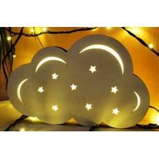 """Світлодіодний світильник - нічник """"Хмара"""" з фанери"""