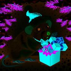 """Салфетка ТМ Luxy 33х33, 3 шара, """"Мышка с подарком"""", 20 шт"""