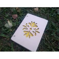 """Блокнот """"Квітковий орнамент"""" з дерева, Блокнот """"Цветочный орнамент"""" из дерева"""