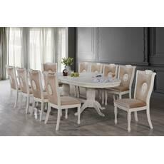 Білий розкладний стіл ББ-1 зі стільцями