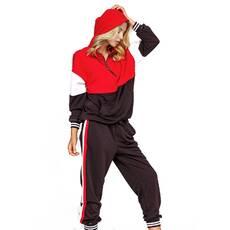 Спортивный костюм красный/черный LK001, размер S