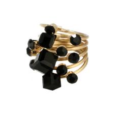 Кольцо Abbelin черное K014A, 18 размер