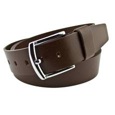 Мужской кожаный ремень Real Leather 4.5 см для джинсов коричневый 165-200 см  (RL1081)