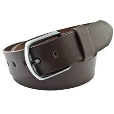 Мужской кожаный ремень Real Leather 4.5 см для джинсов темно-коричневый 140-165 см  (RL1083)
