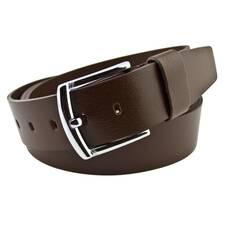 Чоловічий шкіряний ремінь Real Leather 4.5 см для джинсів коричневий 140-165 см   (RL1080)