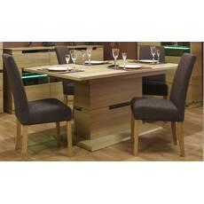 Дубовый раскладной стол Бескид со стульями
