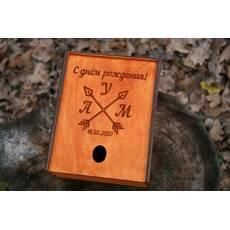 Подарочная шкатулка из дерева с Вашим рисунком, надписью