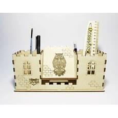 Настільний органайзер (карандашница) для канцелярії Замок