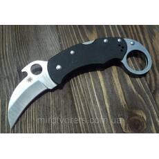 Нож керамбит  Spyderco, черный маленький
