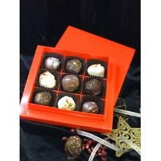 Шоколадні цукерки з сирною начинкою