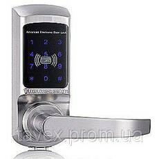 Замок электронный с доступом по сенсорной кодовой клавиатуре и/или карточке FM-01
