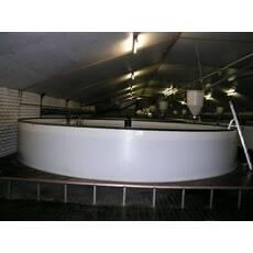 Басейн круглий для риборозведення об'ємом 7 м3, поліпропілен