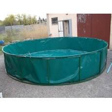 Бассейн круглый для рыборазведения объёмом 19,6 м3 ПВХ, каркасный, разборной