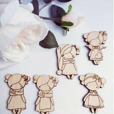 Куколки. Заготовка для броши из фанеры 3 мм