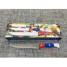 """Нож кухонный с цветной ручкой """"7"""" 29см / 413А"""