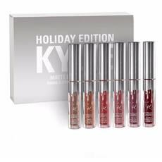 Набор жидких губных помад Kylie Birthday Edition Silver Микс цветов