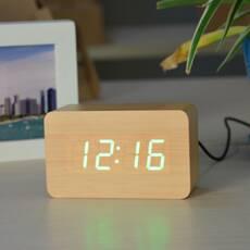 Электронные настольные часы VST 863-5 маленькие Светлое дерево