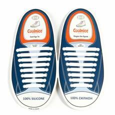Силіконові шнурки Coolnice Білі