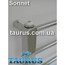 Стильний нержавіючий полотенцесушитель Sonnet 11/1050х450. Кругла перемичка 16мм і стойка квадрат 30х30