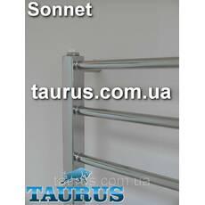 Електро полотенцесушитель Sonnet 9/850х450мм: кругла перемичка пряма 16мм  квадратна стойка 30х30