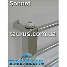 Невеликий полотенцесушитель Sonnet 6/ 550х400 з круглою перемичкою, квадратною стойкою. Водяний  електро; 1/2