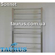 Стильний полотенцесушитель н/же сталь Sonnet 9/ 850х500 : кругла перемичка пряма 16мм  квадратна стойка 30х30
