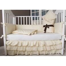 Бортики в ліжечко в комплекті з конвертом, ковдрою і спідницею. 5 кольорів