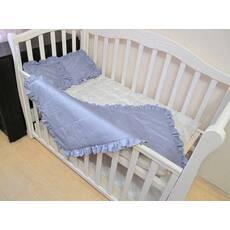 Комплект однотон Baby Flap. Дитяча ковдра - покривало з рюшами, в наборі з 2 подушками. В 5 кольорах