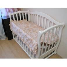 Комплект Анжеліка. Дитяча ковдра - покривало з рюшами в наборі з 2 подушками.