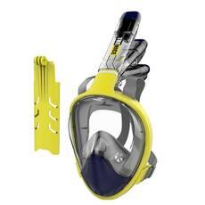 Маска для сноркелінгу TheNice F2 EasyBreath-IIIдля дайвінгу з кріпленням для камери S/M Жовтий