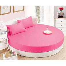 Кругле простирадло на ліжко Модель 2 Малинове