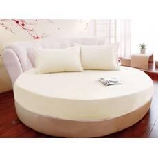 Круглая простынь на кровать Модель 2   Шампань